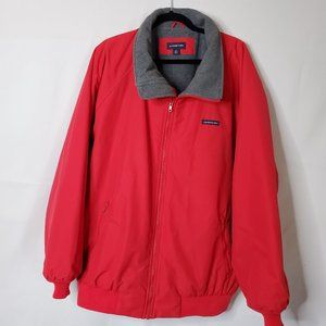 Lands' End Red Squall Jacket w/Gray Fleece Lining